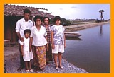 Shrimp farmers family